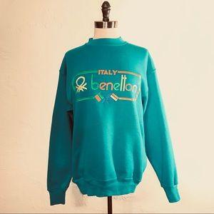 Vintage Italy Benetton Bootleg Sweatshirt C3215